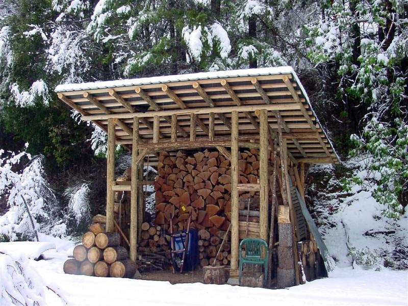 The Woodshed and dry firewood