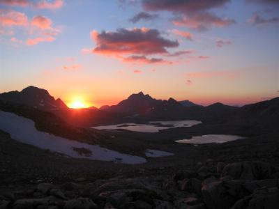 Sunset from Muir Pass on the Pacific Crest Trail