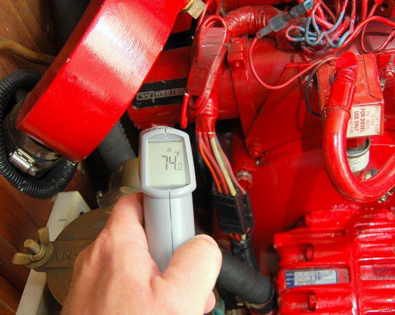 Heat Exchanger Raw Water Outlet toTransmission Cooler