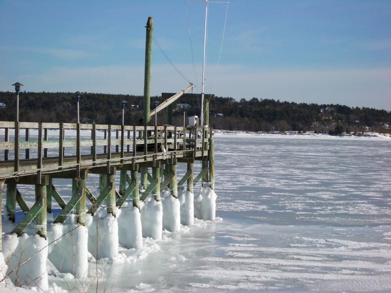 Frozen Dock & Bay - Harpswell, Maine
