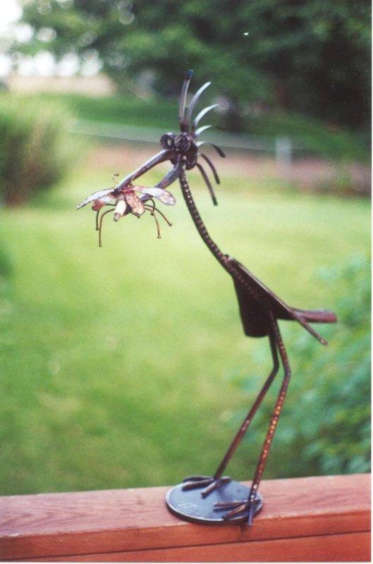 bug in the beak