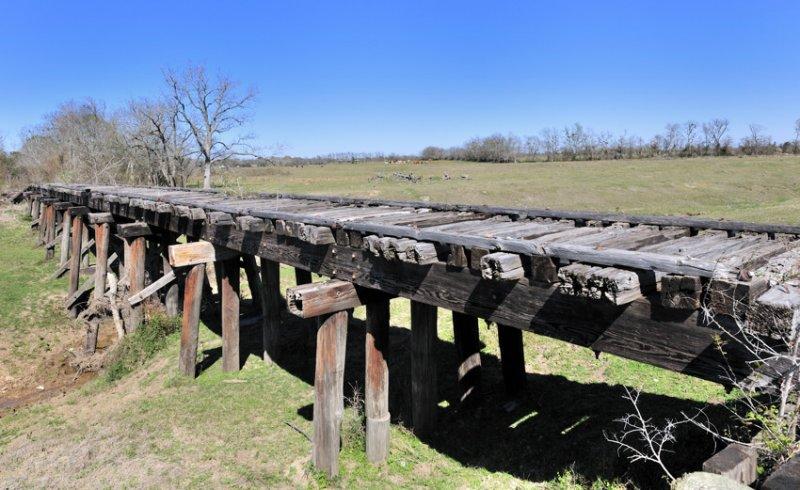 Abandoned railroad trestle. SW Harris County,TX