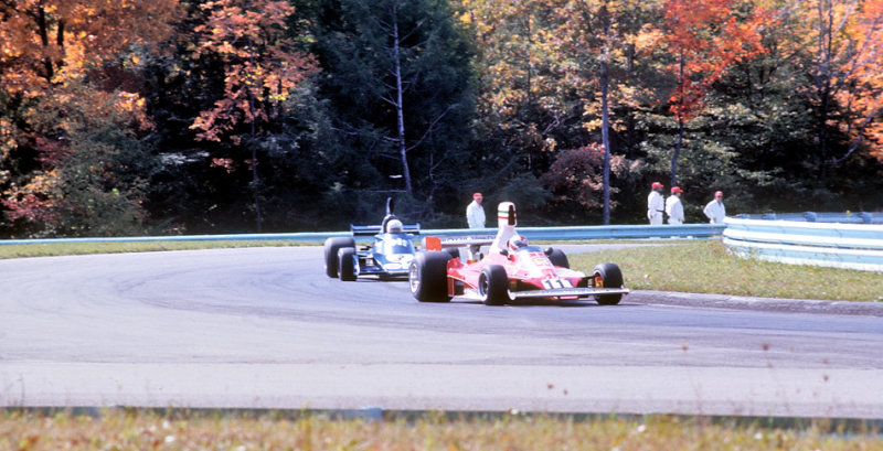 Clay Reggazoni/Ferrari leads Jody Scheckter/Tyrell