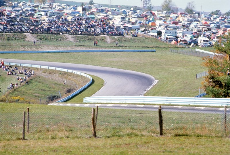 Hill leading up to turn 9