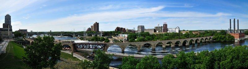 StoneBridge_3Frame: Mississippi River, St. Paul, MN