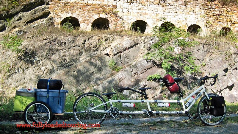 331    Jenka, Katia & Annika - Touring Maryland - Co-Motion Trident touring bike