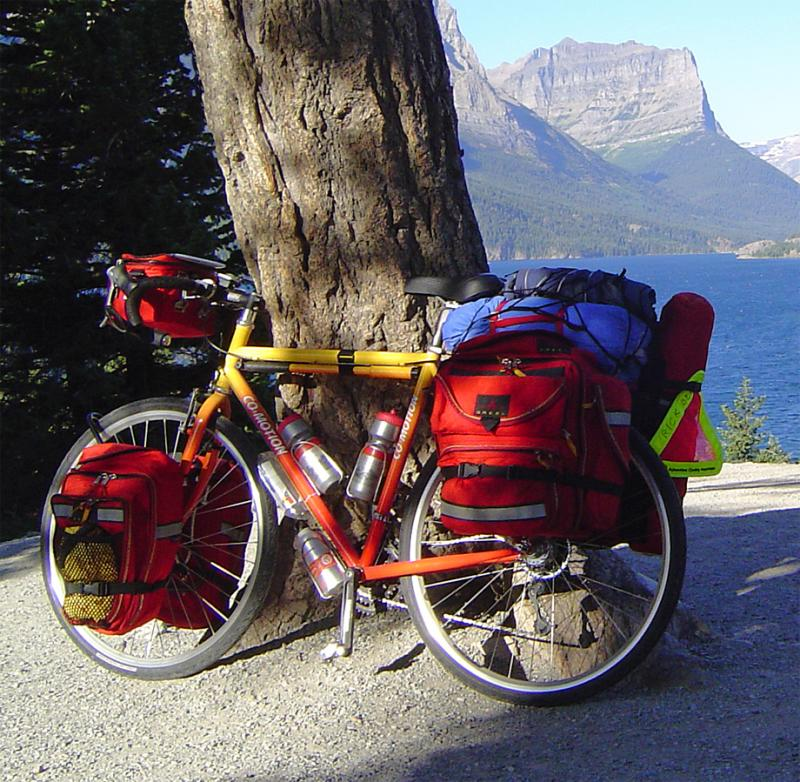 011  Rick - Touring through Glacier National Park - Co-Motion Americano touring bike