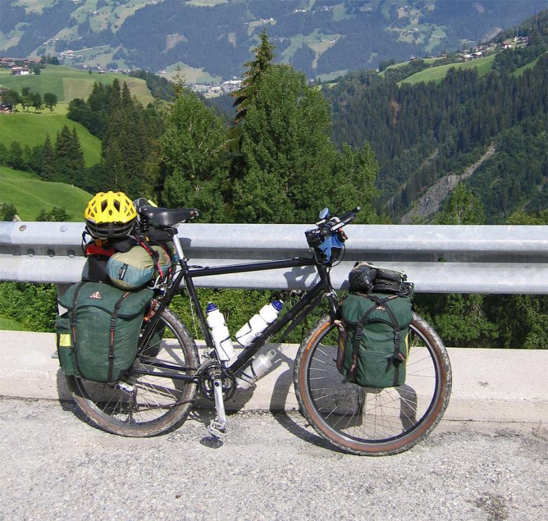 006  Stan - Touring Austria -Modified Nishiki touring bike