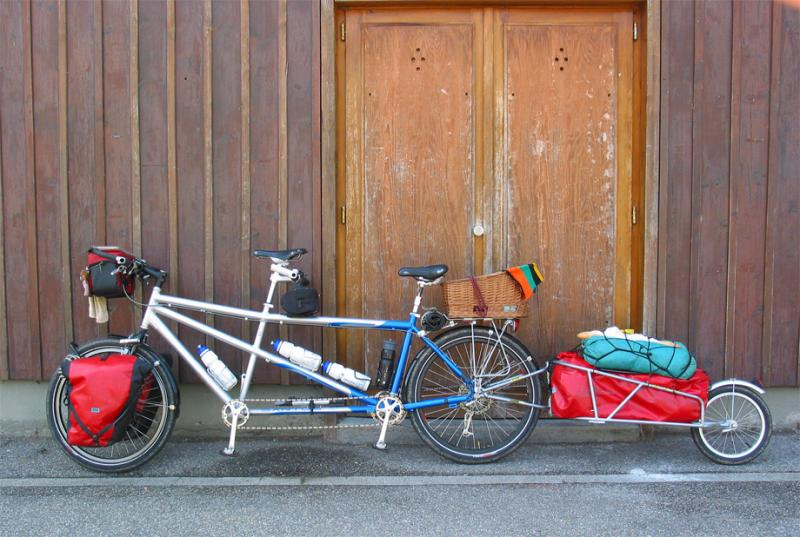 013  Marten & Marieke - Touring Alsace France - Santos touring bike