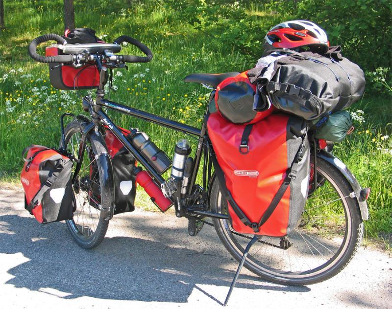 029  Lukas - Touring through Sweden - VSF T400 touring bike