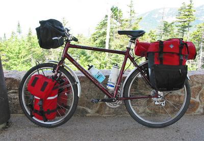 003  Nancy - Touring through New Hampshire - Schwinn S [9 five].3 touring bike