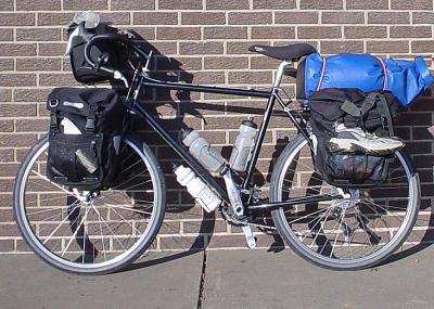 015  Rob - Touring through Illinois USA - Bruce Gordon RnR touring bike