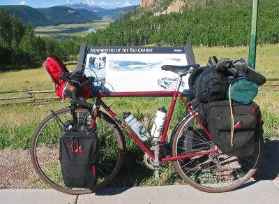 219  Ken - Touring Colorado - Trek 720 touring bike