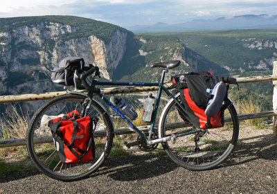 237 Hel - Touring France - Dawes Galaxy Tour touring bike