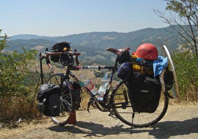 246  Kyle - Touring France - Trek 520 touring bike