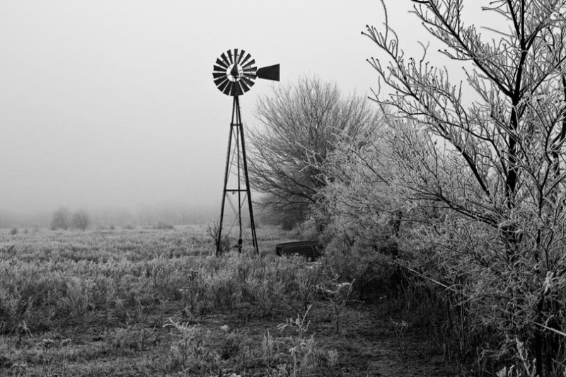 Windmill in B-W