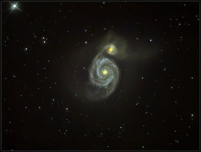 M51 WITH BRESSER TELESCOPE