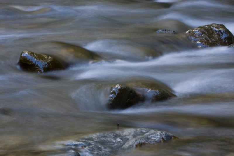 flowing creek water