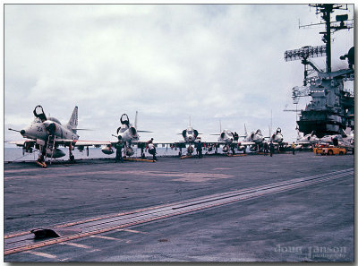 A-4s on the flight deck