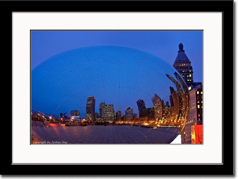 Citylight as Reflected on Chromed Easter Egg