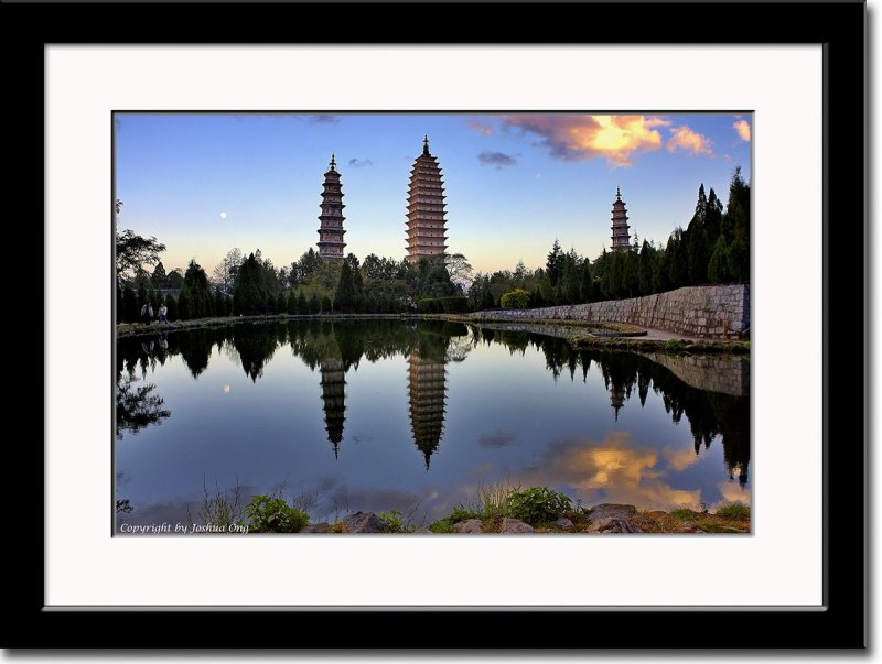 Famous Three Pagodas After Sunset