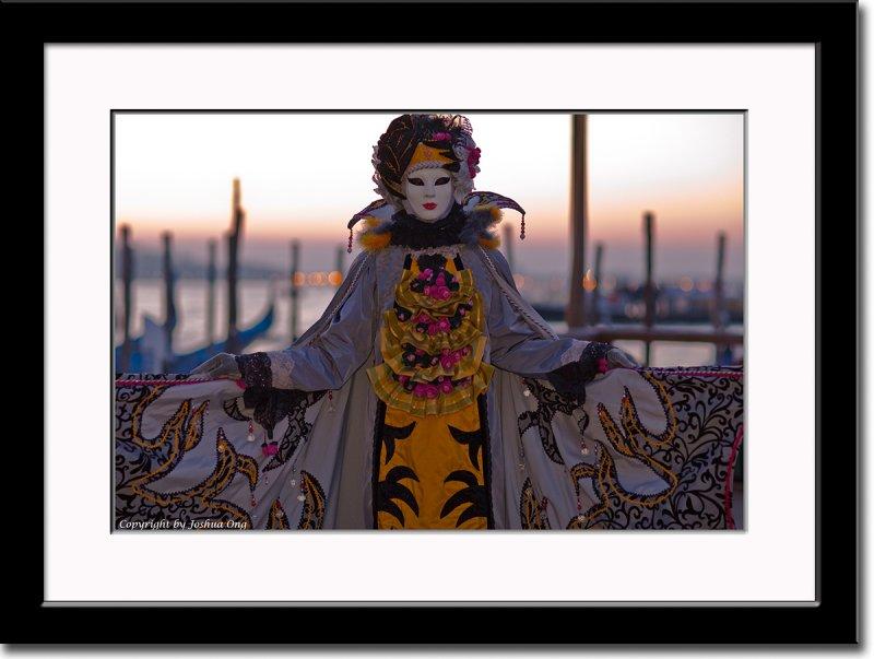 Colorful Mask at Sunrise