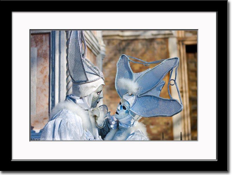 Silver Masks Couple