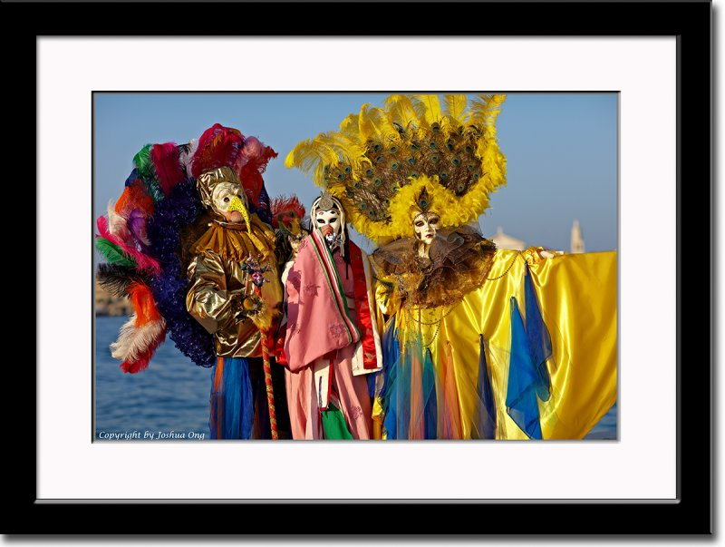 Giusy and Two Colorful Masks