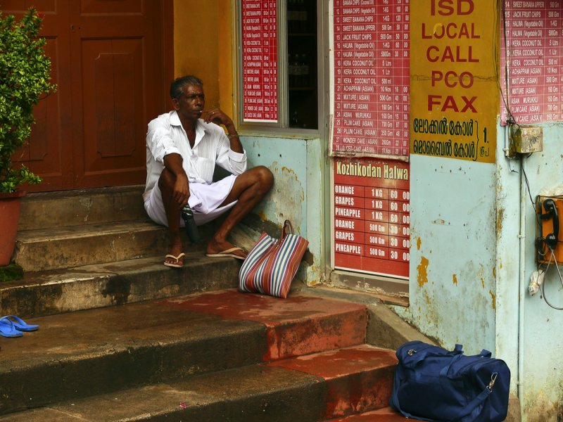 Pilgrim in Trivandrum at rest.jpg