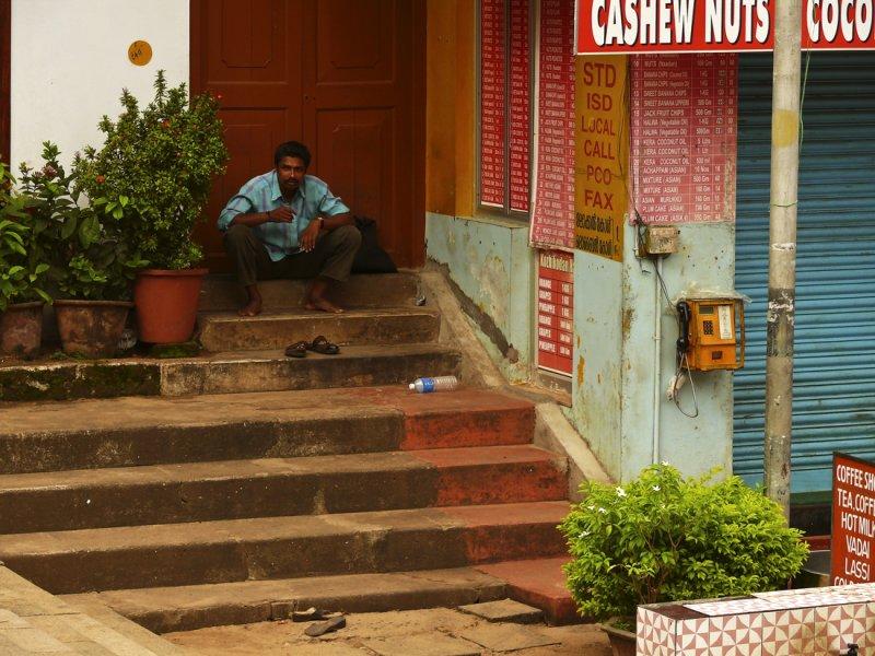 Quiet scene at temple in Trivandrum.jpg