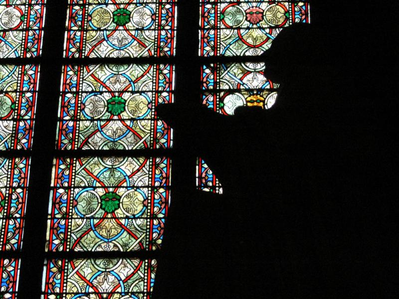 Statue in Notre Dame