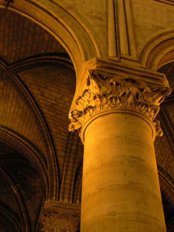 Pillar in Notre Dame