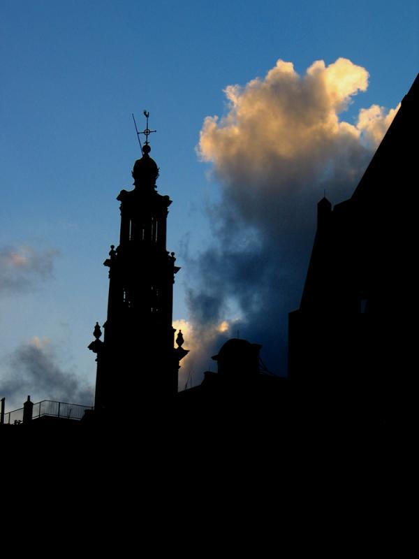 Evening above Amsterdam