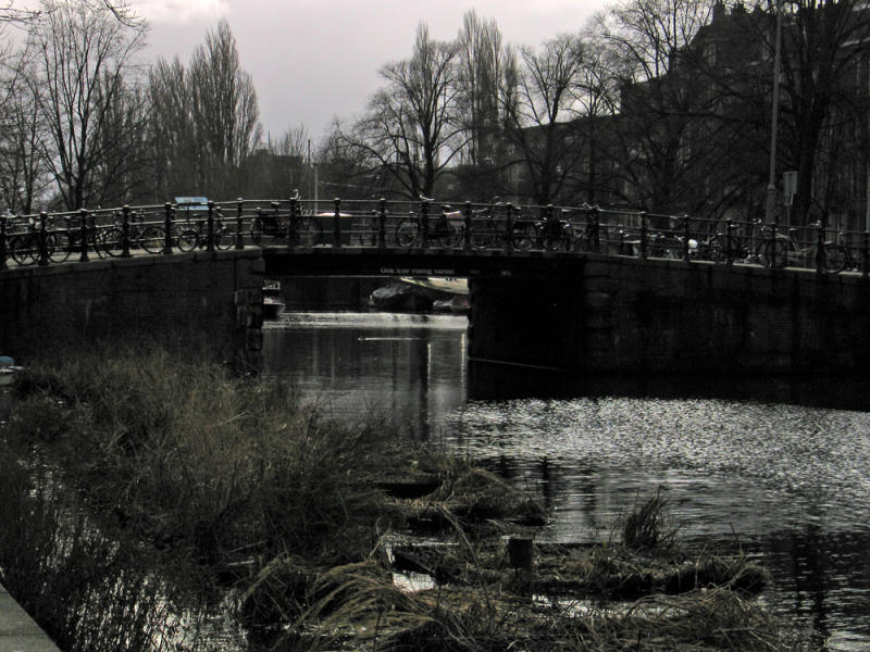 Wintery canal