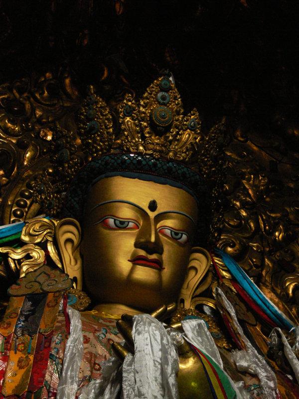 Drepung golden buddha