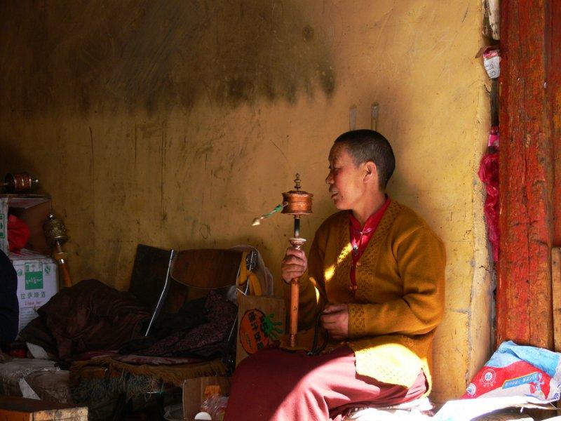 Nun at Tsome Ling