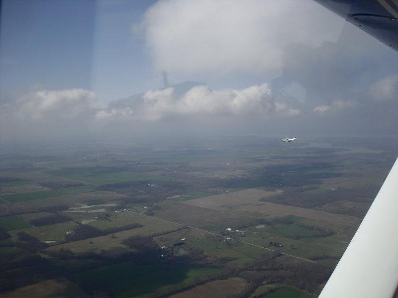 N1348J over So. Returning from MVN