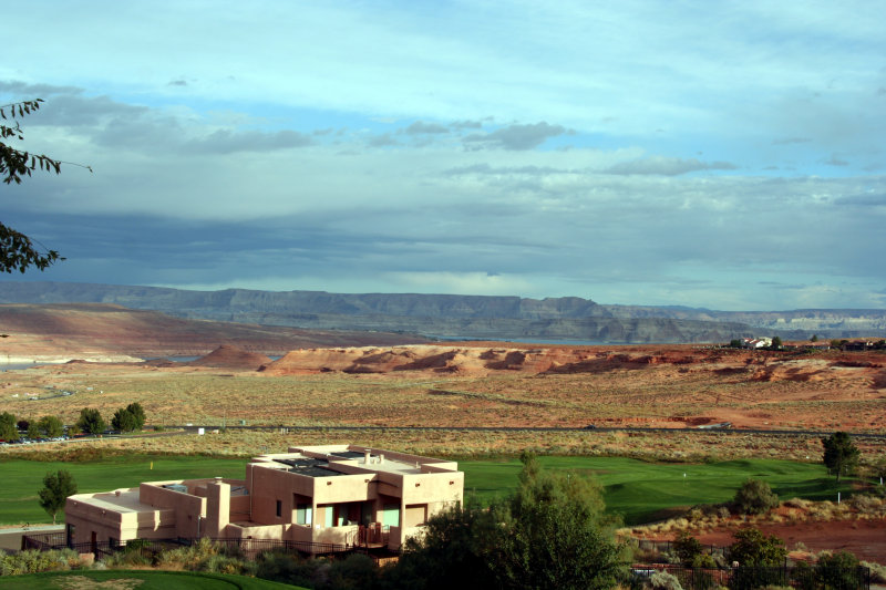 view from motel