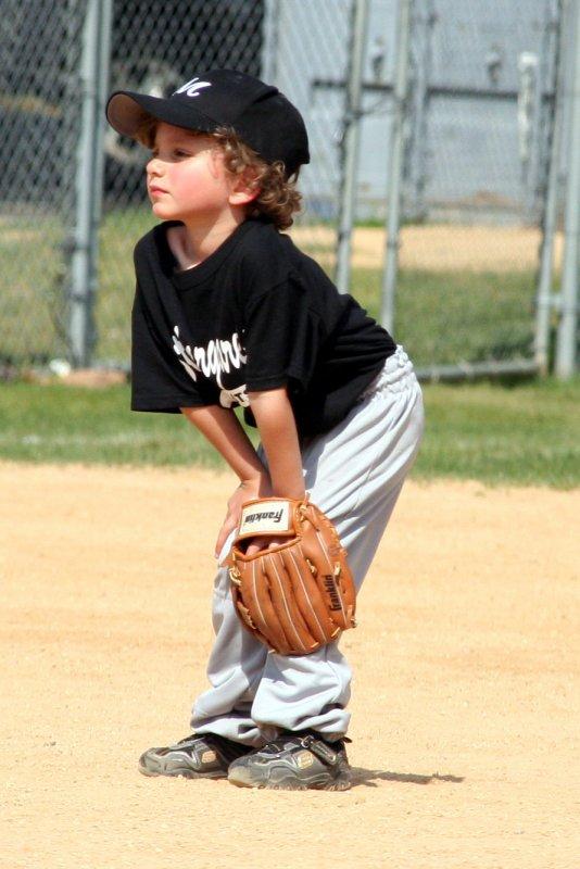 Aidan at shortstop
