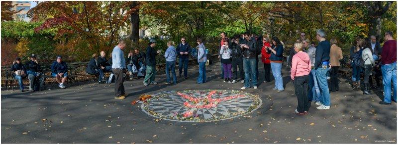 John Lennon Imagine Memorial Central Park