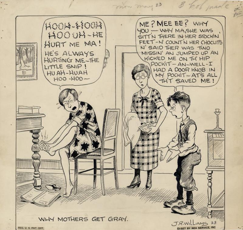 Original cartoon (published May 23, 1927) (14 x 14)