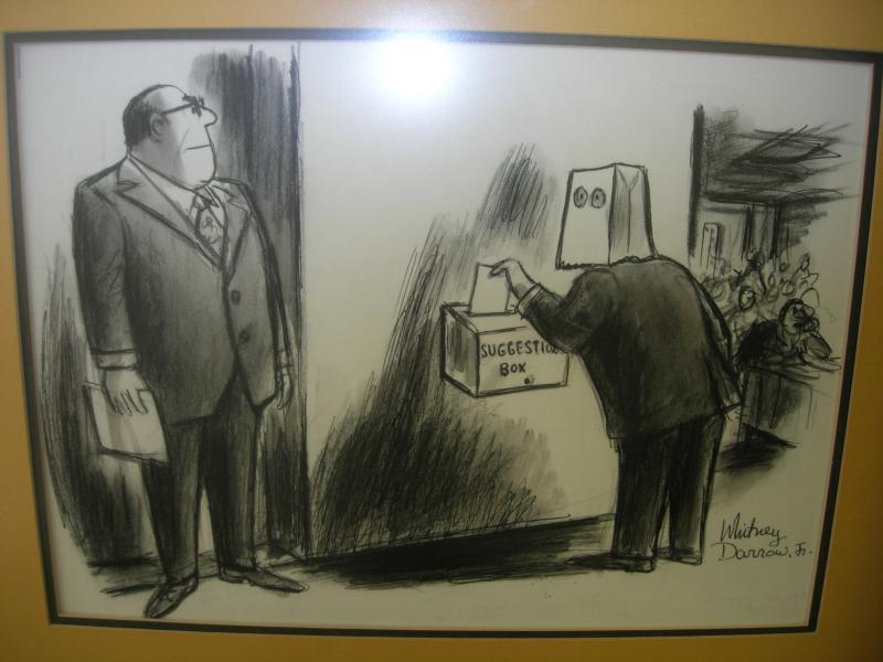 Original Cartoon (published in The New Yorker in 1971) (charcoal on illustration board)