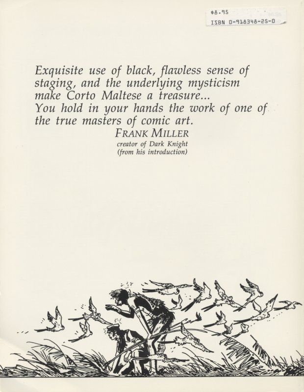 Corto Maltese Vol. 3 back cover