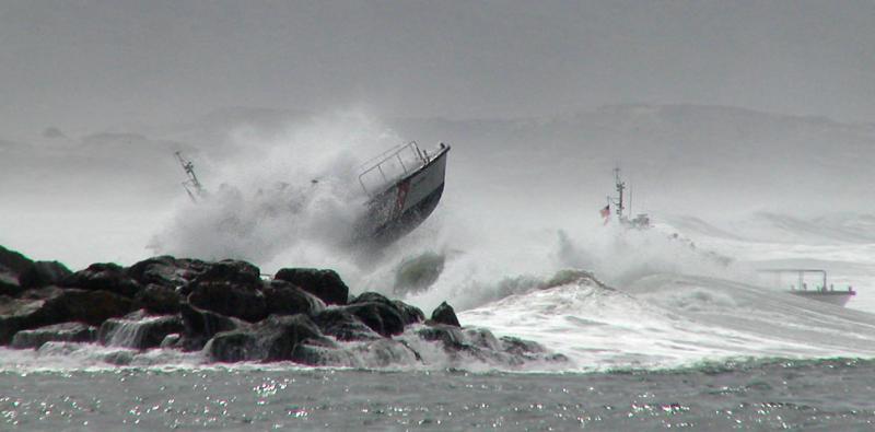 Coast Guard in Stormy Seas