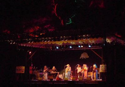 Live Oak stage at night