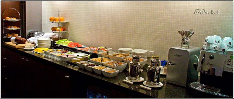A Perk of the Crown Plaza Executive Lounge