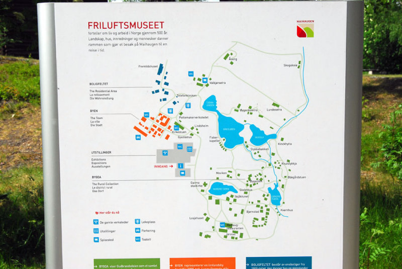 Map of the Maihaugen Open Air Museum