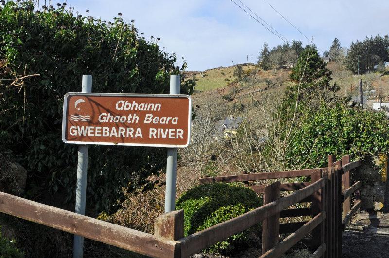 Gweebarra River sign