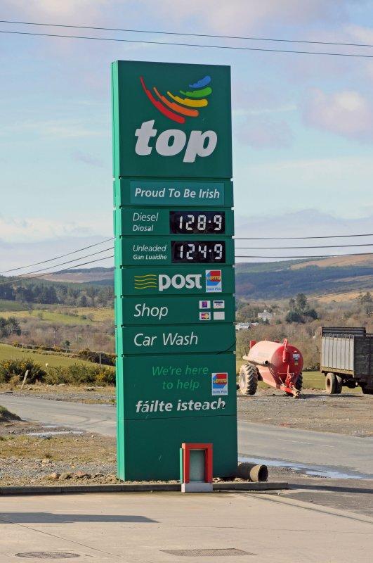 Price per liter in U.K. Pounds
