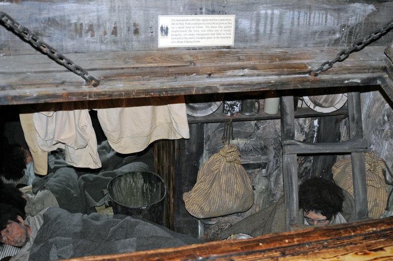 Cramped sleeping quarters in cellars
